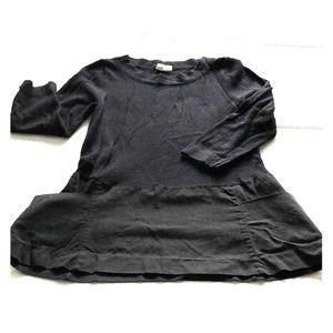 Anthropologie Moth Black Apron Sweater